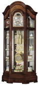 Howard Miller Majestic II Sensational Triple Chiming Curio Grandfather Clock (Made in USA)
