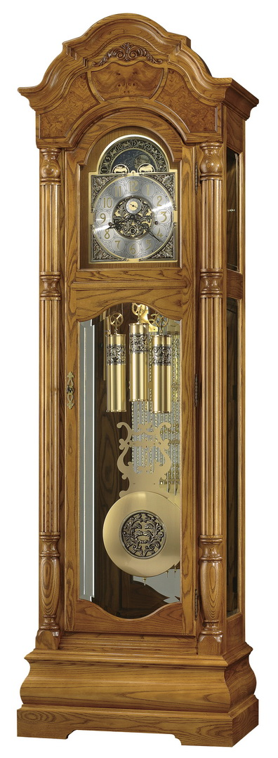 Clockway Howard Miller Triple Chiming Traditional Grandfather Clock Made In Usa Chm1098