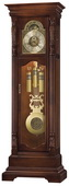 Howard Miller Triple Chiming German Movement Grandfather Clock in Cherry Finish - CHM1104