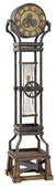 Howard Miller Hourglass  Triple Chiming Metal Fashion Trend Floor Clock Quartz