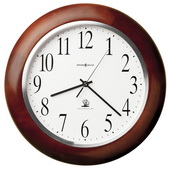 13.75in Howard Miller Deluxe Atomic Wooden Wall Clock - CHM2300