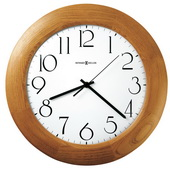 12.75in Howard Miller Wooden Quartz Round Wall Clock - CHM2572