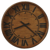 Howard Miller Deluxe 25in Wine Barrel Wall Clock - CHM2050