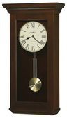 Howard Miller Amiable Deluxe Chiming Wall Clock in Cherry - CHM2156