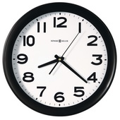 Howard Miller 13.5in Black Quartz Wall Clock - CHM2784