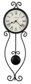 Howard Miller Wrought-Iron Pendulum Wall Clock - CHM2496