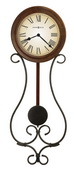 Howard Miller Wrought-Iron Pendulum Wall Clock - CHM2412