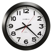 15.75in Howard Miller Auto Daylight Savings Time Wall Clock Matte Black Case - CHM4014