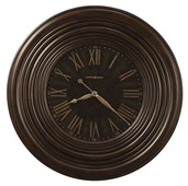 36in Howard Miller Oversized Gallery Wall Clock Distressing Earth Brown Finish - CHM1862