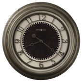 25.5in Howard Miller Deluxe Oversized Gallery Wall Clock Antique Nickel Finished - CHM2212