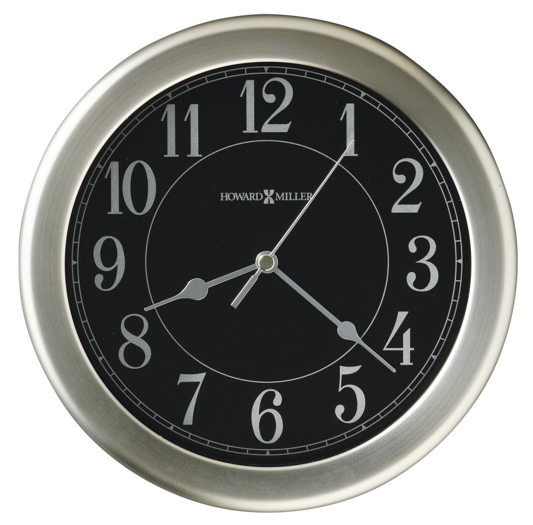 Clockway 8 5in Howard Miller Brushed Nickel Finished Wall