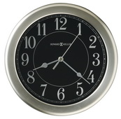 8.5in Howard Miller Brushed Nickel-Finished Wall Clock - CHM2708