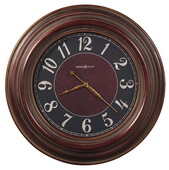 35.5in Howard Miller Oversized Gallery Wall Clock Antique Red Finish - CHM1904