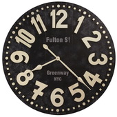 36in Howard Miller Quartz Oversized Gallery Wall clock Aged Black Finish - CHM3002