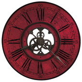 32in Howard Miller Quartz Oversized Gallery Wall Clock Red Dial - CHM3004