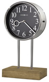 Howard Miller Triple-Chime Mantel Clock Chrome Metal Wooden Base - CHM4030