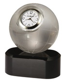 Howard Miller Etched Globe Crystal Clock - CHM2394