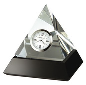 Howard Miller Optical Crystal Pyramid Clock, - CHM2178