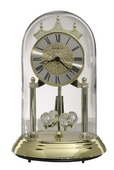 Howard Miller 9in Brass Finished Anniversary Clock with Metal Base - CHM2494