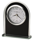 Howard Miller Black Glass Arched Tabletop Alamr Clock - CHM2754