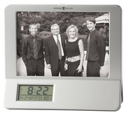Howard Miller Silver Photo Frame Digital Alarm Clock - CHM2748