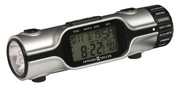 Howard Miller Illuminated World Time LCD travel alarm clock LED flashlight - CHM2800