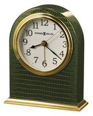 Howard Miller Arch Tabletop Alarm Clock Emerald Green Reptile Pattern - CHM2554