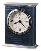 Howard Miller Bracket Style Tabletop Alarm Clock Cobalt Blue Reptile Pattern - CHM2510