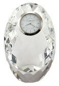 Howard Miller Diamond Mosaic Design Crystal Tabletop Clock - CHM2354