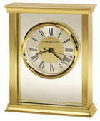 Howard Miller Beautiful Polished Brass-Finished Bracket Table Clock