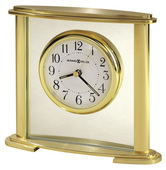 Howard Miller Oval Brass-Finished Table Clock With Luminous Hands - CHM4040