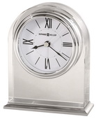 Howard Miller Crystal Arched Table Clock Accented With Brushed Aluminum Base - CHM4044