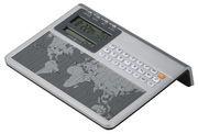 Howard Miller World Clock & Calculator - CHM4052