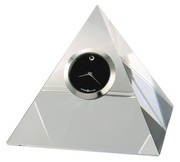 Howard Miller Crystal Pyramid Clock Elegant Black Dial - CHM4056