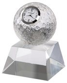 Howard Miller Crystal Tabletop Clock Oversized Crystal Golf Ball Crystal Base - CHM4058
