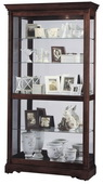 Howard Miller Windsor Cherry Curio Cabinet with Acanthus Leaf Molding (Made in USA) - CHM1494