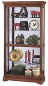 Howard Miller Oak Yorkshire Curio Cabinet with Dentil Molding (Made in USA) - CHM1484