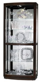 36in Wide Howard Miller CHM1418 Deluxe Black Coffee Finish Collector Curio Cabinet (Made in USA)