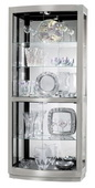 Howard Miller Elegant Nickel Finish Curio Cabinet (Made in USA) - CHM1416