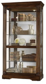 Howard Miller Andreus Deluxe Lightly Distressed Tuscany Cherry Curio Cabinet (Made in USA) - CHM1480