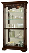Howard Miller Deluxe Rustic Cherry Curio Cabinet (Made in USA) - CHM1436