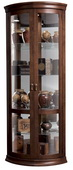 Howard Miller Hampton Cherry Rounded Front Corner Curio Cabinet (Made in USA) - CHM1506