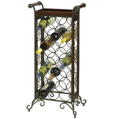 Howard Miller Wine Butler Wrought Iron and wood floor standing Wine Rack - CHM2158