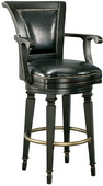 Howard Miller Northport Deluxe Burnished Black Northport Wooden Stool - CHM1652