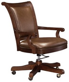Howard Miller Ithaca Lightly Distressed Finish in Hampton Cherry Club Chair - CHM1632