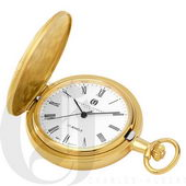 Charles Hubert Gold-Plated Hunter Case Mechanical Pocket Watch