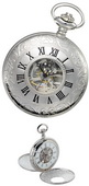 Charles Hubert Classic Pocket Watch 17 Jewel Mechanical - DCH5164