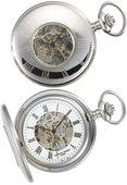 Charles Hubert Premium Pocket Watch 17 Jewel Mechanical - DCH5095