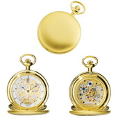 Charles Hubert Premium Pocket Watch 17 Jewel Mechanical - DCH5041