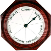 9.25in Classic Day Clock Quartz in Mahogany - DAY5318